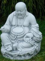 """Beton Figur Lachender Buddha """" H 30 cm Dekofigur und Gartenskulptur"""""""