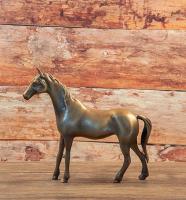 Bronzefigur Bronzeskulptur Tierfigur Pferd aus Bronze H 19 cm Deko Skulptur Figur