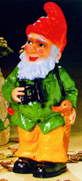 Gartenzwerg als Jäger Figur Zwerg H 48 cm Gartenfigur aus Kunststoff