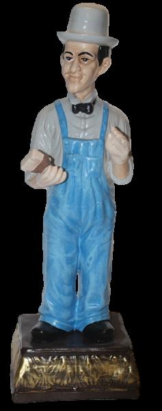 Dekorationsfigur Komiker Doof H 47 cm stehend Deko Figur Stan Laurel aus Kunstharz