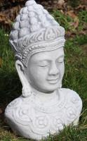 Beton Figur Statue Skulptur Buddha Büste H 29 cm Dekofigur und Gartenskulptur