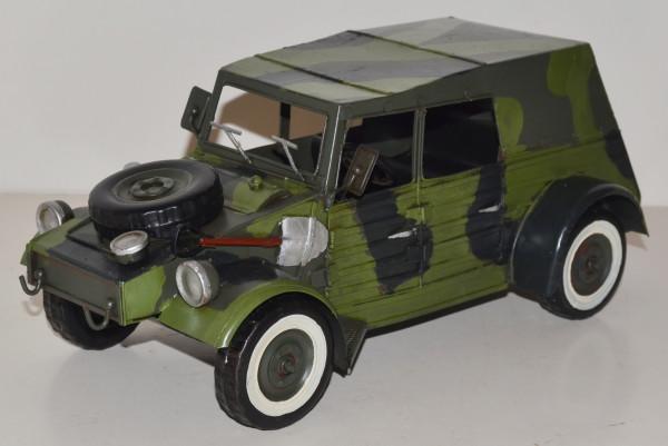 Blechauto Nostalgie Modellauto Oldtimer Automarke VW Kübelwagen Typ 82 aus Blech L 37 cm