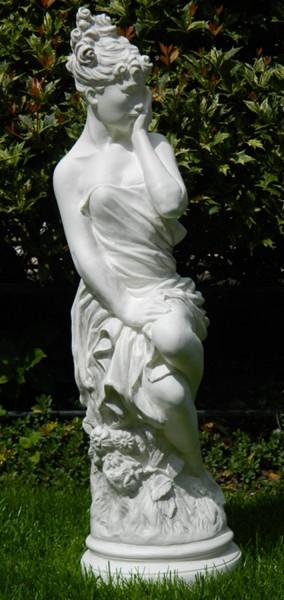 Deko Figur Statue Frau Grazia Akt H 68 cm sitzend klassische Skulptur Dekofigur Kunststoff