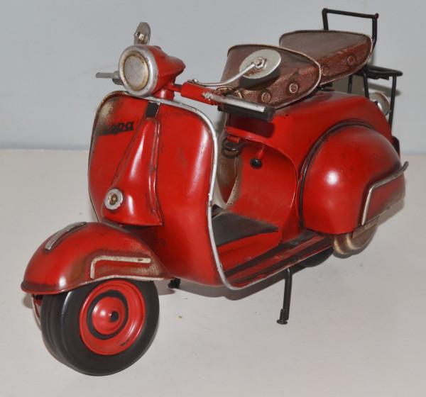 Blechmodell Roller Nostalgie Modellauto Oldtimer Marke Vespa Motorroller Modell aus Blech L 32 cm