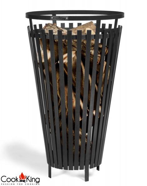 """Feuerkorb """"Flame"""" Ø 45cm Feuerstelle für den Garten aus Stahl Feuersäule als Wärmequelle oder Grill"""