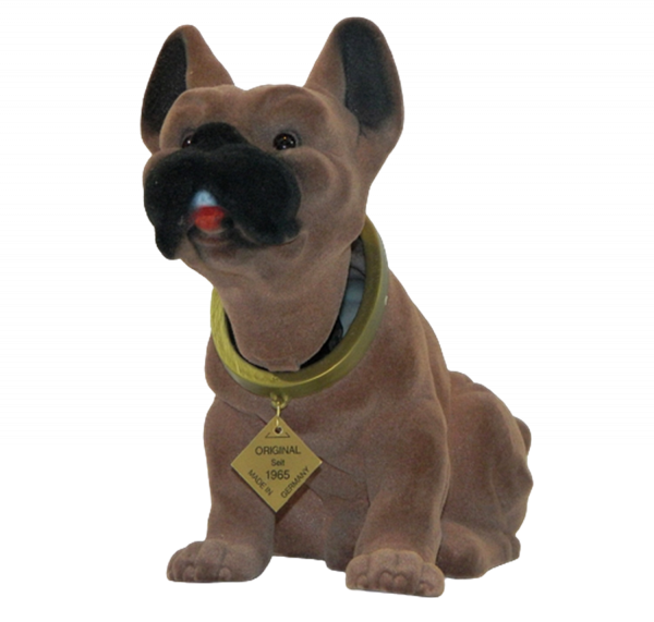 Wackel Figur Hund Boxer Wackelfigur H 20 cm groß Dekofigur mit Wackelkopf