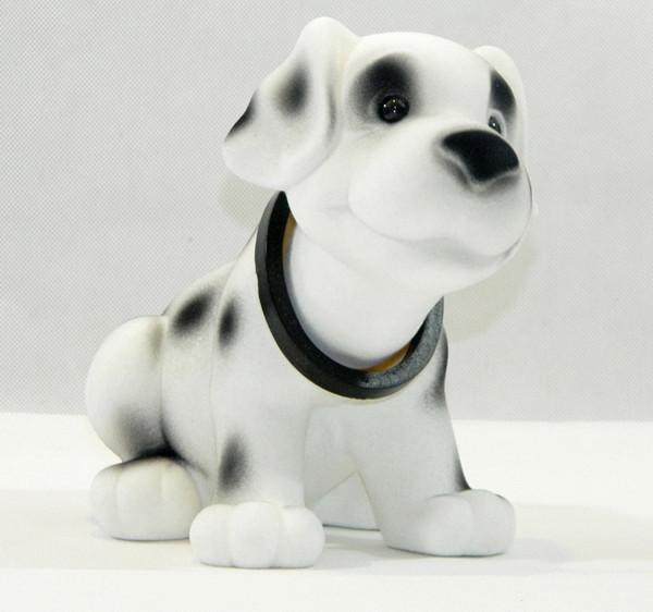 Wackel Figur Hund Dalmatiner Wackelfigur H 18 cm groß Dekofigur mit Wackelkopf