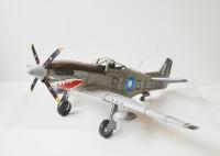 Blechflugzeug Nostalgie Modellflugzeug Oldtimer Marke Mustang P51 Flugzeug aus Blech L 103 cm