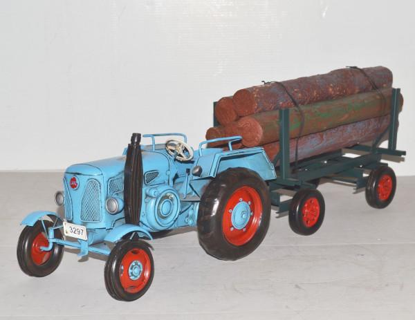 Traktor-Lanz-Oldtimer-Blechmodell-Trecker-Holzanhaenger-ini37071.37718.1