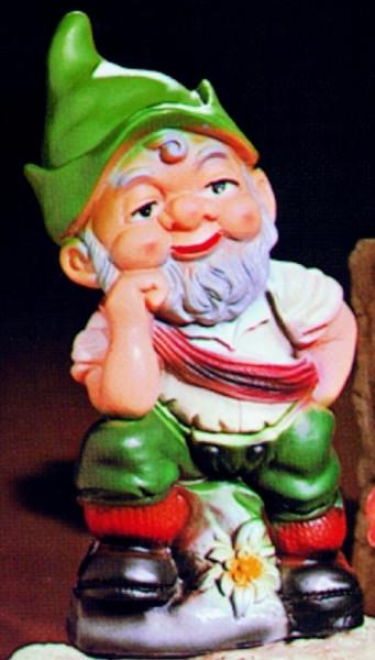Gartenzwerg als Bergsteiger Figur Zwerg H 27 cm Gartenfigur aus Kunststoff