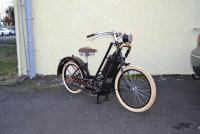 Blechmotorrad Nostalgie Modellauto Oldtimer Marke Gebrüder Hildebrand Motorrad aus Blech L 155 cm