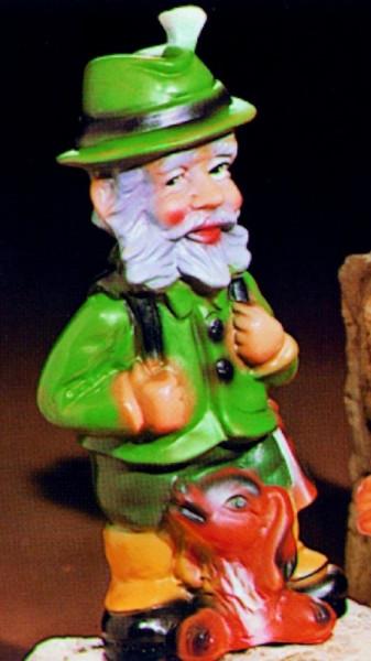 Gartenzwerg Förster Figur Zwerg H 28 cm Gartenfigur aus Kunststoff