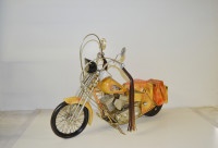 Blechmotorrad Nostalgie Modellauto Oldtimer Marke Indian Chief Motorrad aus Blech L 80 cm