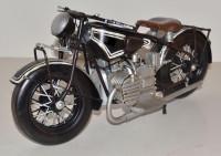 Blechmotorrad Nostalgie Modellauto Oldtimer Marke BMW Motorrad R 52 Tourenmotorrad aus Blech L 37 cm