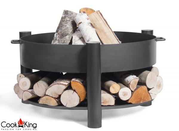 """Feuerschale """"Montana"""" Ø 60 cm Feuerstelle für Garten aus Stahl Feuerkorb als Wärmequelle oder Grill"""