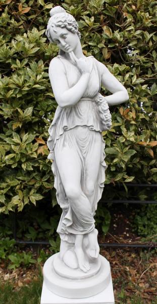 Beton Figur antike Frau H 65 cm Dekofigur Gartenskulptur Gartendeko Figur Skulptur aus Beton
