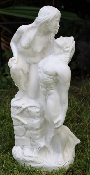 Deko Figur Statue Liebespaar Romeo und Julia klassische Skulptur H 42 cm Dekofigur Kunststoff