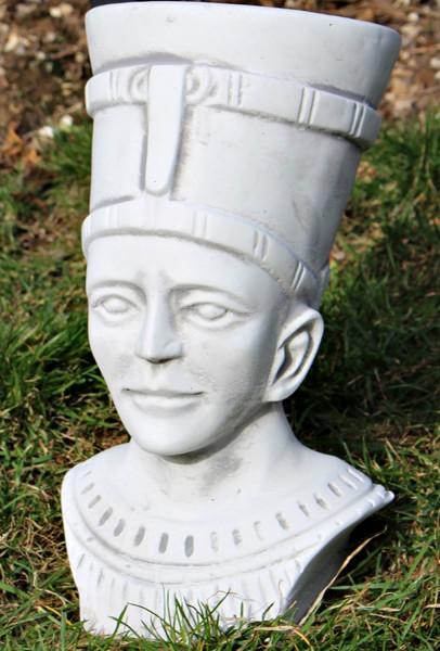 Beton antike Figur Staute ägyptische Pharao Skulptur Büste H 30 cm Dekofigur und Gartenskulptur