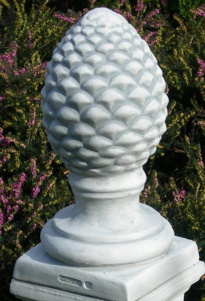 Beton Dekofigur Figur Dekoelement Pinienzapfen H 38 cm Dekofigur und Gartenskulptur