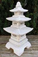 Beton Figur japanische Laterne H 47 cm Dekofigur und Gartenskulptur