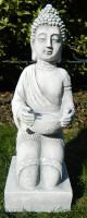 Beton Figur Buddha knieend H 43 cm Dekofigur und Gartenskulptur