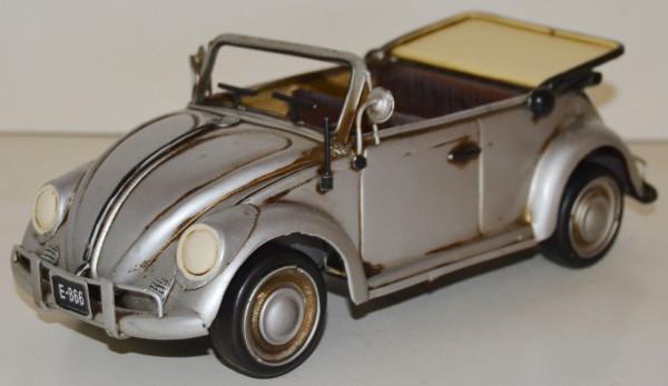 Blechauto Nostalgie Modellauto Oldtimer VW Käfer Cabrio 1950er Jahre aus Blech L 28 cm