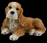 Dekofigur Hund Cocker Spaniel Welpe Hundefigur liegend Kollektion Castagna aus Resin H 16 cm