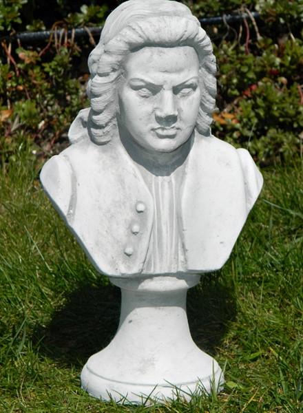 Beton Figur Büste Johann Sebastian Bach H 26 cm Statue und Skulptur