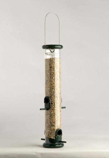 "Naturschutzprodukt Futtersäule "" Ring-Pull Pro midi "" grün Metall Vogelprodukt H 37,5 cm Inhalt 1,0"