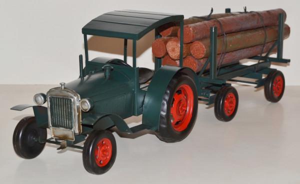 Blechtraktor Nostalgie Modellauto Oldtimer Marke Hanomag Traktor Modell R40 aus Blech L 63 cm