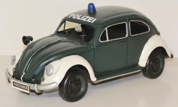 Blechauto Nostalgie Modellauto Oldtimer VW Käfer Polizei Polizeiauto aus Blech L 34 cm