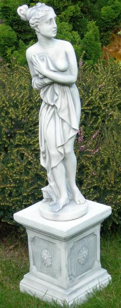 Beton Statue Skulptur Paolina von Canova auf klassischer Säule H 86 cm Deko Figuren Gartenskulpturen