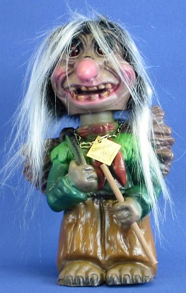 Souvenir Wackel Figur Waldfrau groß H 22 cm Wackelfigur Original mit Wackelkopf