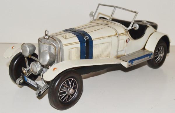 Blechauto Nostalgie Modellauto Oldtimer Mercedes-Benz Typ 630 Roadster 1926 aus Blech L 33 cm