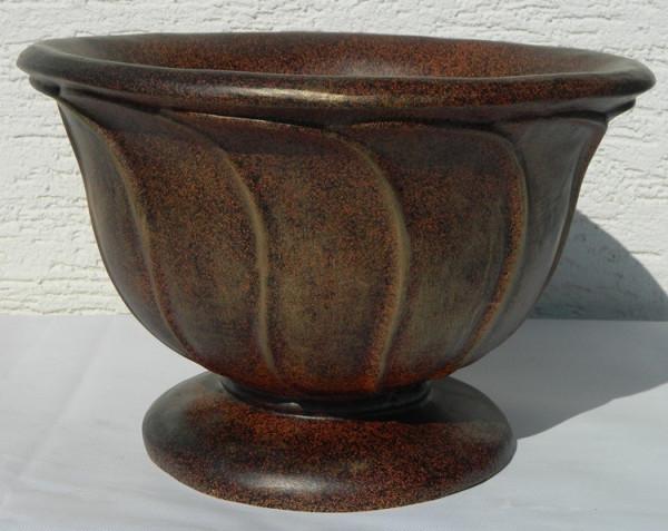Dekorationsfigur Vase H 26 cm Einzelstück Rost nachgemalt Kunstharz
