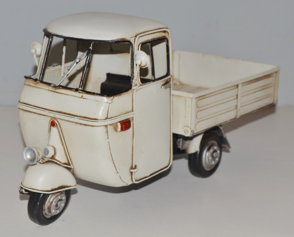 Blechmodell Roller Nostalgie Modellauto Oldtimer Marke Vespa Motorroller Modell Ape aus Blech L 33cm