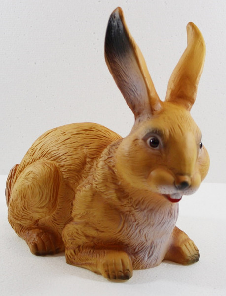 Deko Garten Figur Dekofigur Gartenfigur Tierfigur Hase sitzend aus Kunststoff Höhe 25 cm