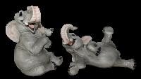 Figur Elefant Baby Elefantenfiguren sitzend u. liegend Tierfigur Kollektion Castagna Resin H 15-21cm
