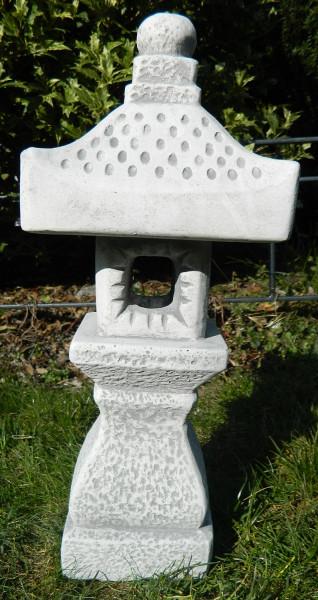 Beton Figur japanische Laterne H 40 cm Dekofigur und Gartenskulptur