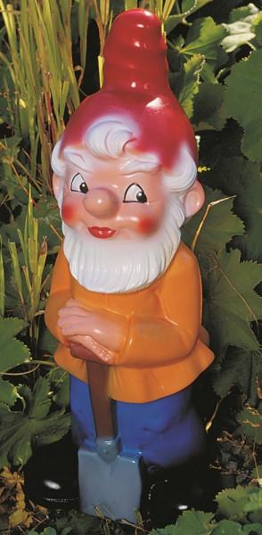 Gartenzwerg mit Spaten Figur Zwerg Gärtner H 40 cm Gartenfigur aus Kunststoff