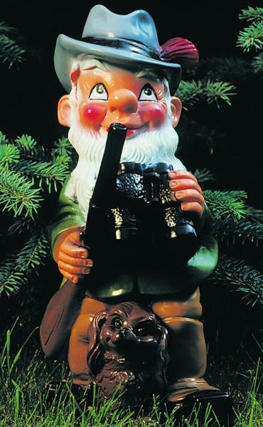 Gartenzwerg Förster Figur Zwerg H 33 cm Gartenfigur aus Kunststoff