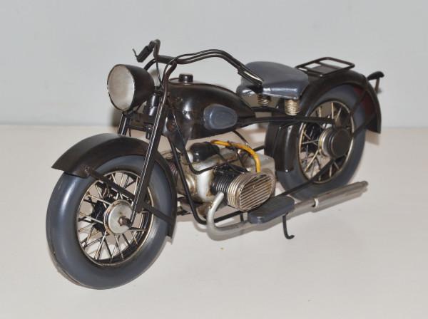 Blechmotorrad Nostalgie Modellauto Oldtimer Marke BMW R 16 Motorrad 1932 aus Blech L 29 cm