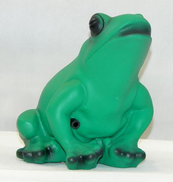 Deko Figur Frosch H 18 cm mit Bewegungsmelder Quak