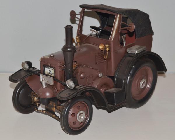 Blechtraktor Nostalgie Modellauto Oldtimer Marke Lanz Eilbulldog Traktor D 2539 aus Blech L 29 cm