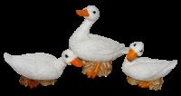 Deko Figur Gans Tierfiguren weiße Gänsefiguren Vogel Kollektion Castagna aus Resin H 19-37 cm