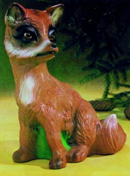 Deko Figur Fuchs Höhe 32 cm Gartenfigur Dekofigur aus Kunststoff