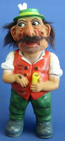 Souvenir Wackel Figur Schmalzler Toni groß H 26 cm Wackelfigur Original mit Wackelkopf