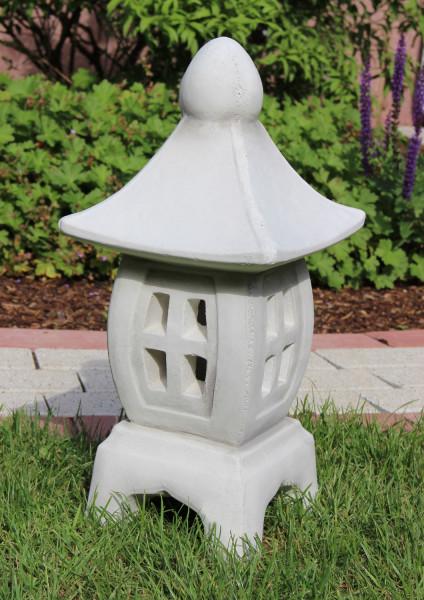Beton Figur japanische Laterne H 45 cm Dekofigur und Gartenskulptur asiatische Steinlaterne Beton