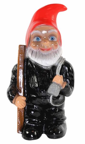 Deko Figur Zwerg H 29 cm Gartenzwerg Schornsteinfeger stehend Gartenfigur aus Kunststoff