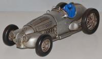 Blechauto Nostalgie Modellauto Oldtimer Mercedes-Benz W 125 1937 Rennwagen aus Blech L 29 cm